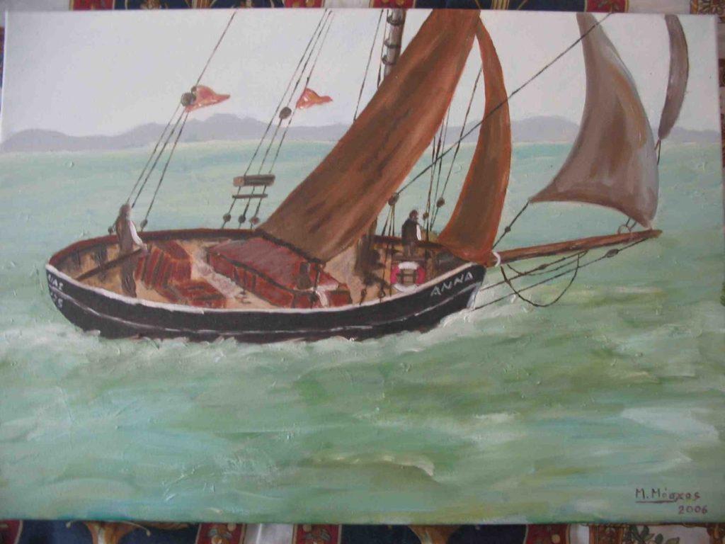 βάρκα - ακρυλικό